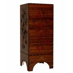 Dizionzrio DTBLBBR Red Handicrafts Wooden Look Hand Made Night Table Lamp