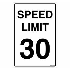 Safety Sign Store Speed Limit 30 Sign Board, TR503-6090REF-01