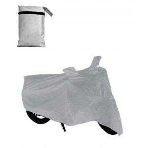 Being Trendy Universal Silver Bike Body Cover with Double Mirror Pockets