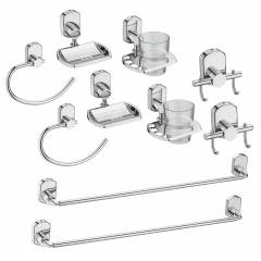 Jovial 200-2 Curio Stainless Steel Glossy Finish Bathroom Accessories Set