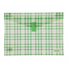 Saya Green Clear Bag Superior, Dimensions: 340 x 15 x 350 mm, Weight: 52 g (Pack of 6)
