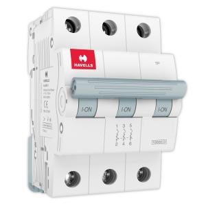 Havells Euro-II 0.5A Triple Pole D Curve MCB, DHMGDTPF0x5