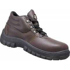 Prima PSF-25 Cosmo Steel Toe Brown Safety Shoes, Size: 6