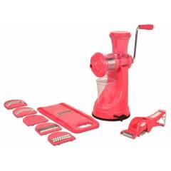 SM Elegant Combo of Pink Manual Hand Juicer & Vegetable Cutter