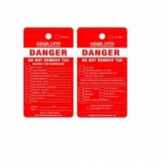 Asian Loto Danger Do Not Operate Equipment Locked Out Lockout Tagout, ALC-CLT-R (Pack of 10)