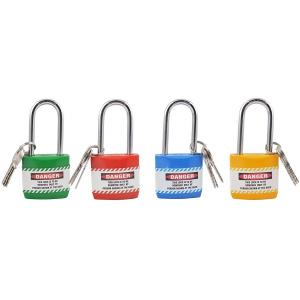 Asian Loto ANL14 Long Shackle Lockout Padlock (Pack of 4)