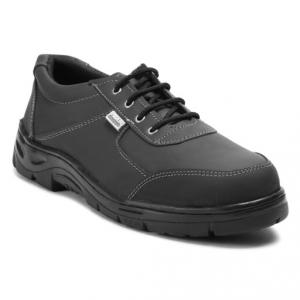 Safari Pro Rider Steel Toe Black Safety Shoes, Size: 11