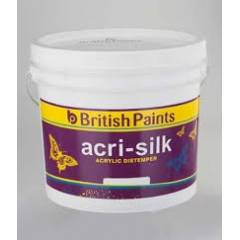 British Paints Acri-Silk Acrylic Distemper GR-V, 10kg, Pastel Green