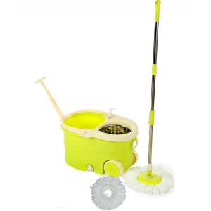 Oshop Trades Assorted Yellow Colour Spin Mop with Wringler and Wheels