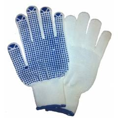 Sai Safety White Regular Dotted Gloves (Pack of 50)
