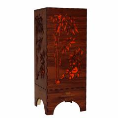 Dizionzrio DTBLPBR Orange Handicrafts Wooden Look Hand Made Night Table Lamp