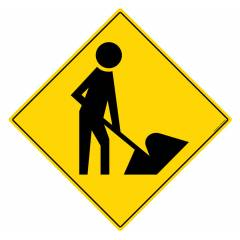 Safety Sign Store Road Works Sign Board, TR308-600DG-01
