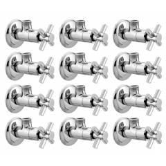 Snowbell Corsa Brass Chrome Plated Angle Faucet (Pack of 12)