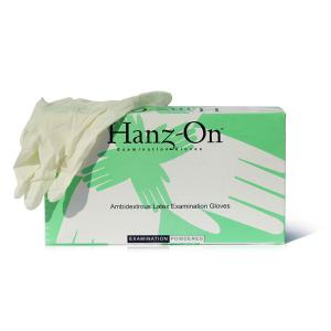Hanz-on HONSPP Latex Rubber Large Examination Gloves (Pack of 10)