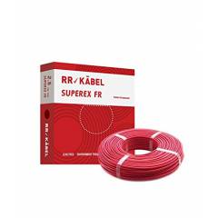 RR Kabel Superex-FR 1.5 Sq mm Red PVC Insulated Cable, Length: 90 m