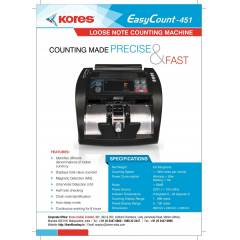 Kores Easy Count 451 Currency Counting Machine