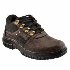 mBold 77 Steel Toe Brown Safety Shoes, Size: 8