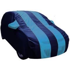 AutoLane Aqua Blue Matty Car Cover with Buckle Belt for Honda Brio