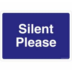 Safety Sign Store Silent Please Sign Board, GS818-A4V-01