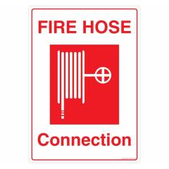 Safety Sign Store Fire Hose Connection Sign Board, FE403-A3PC-01