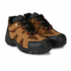 Manslam MLM21 Tan Steel Toe Safety Shoes, Size: 6