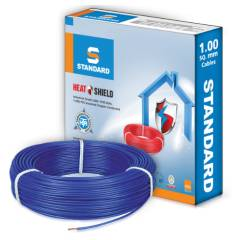 Standard 1 Sq mm 90m Blue PVC FR Wire, WSFFDNBA11X0