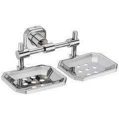 Jovial 109 Classy Stainless Steel Glossy Finish Double Soap Dish Holder