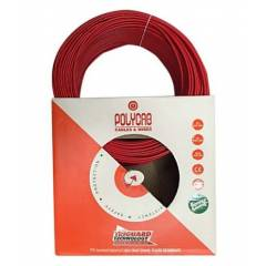 Polycab FR PVC Red 90m Wire, Size: 6 sq mm