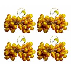 VRCT 5W B-22 Yellow Silky LED Ball String Lights, HD-428a (Pack of 4)