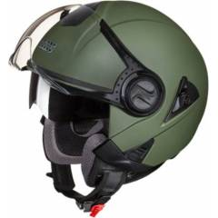 Studds Downtown Military Green Open Face Helmet, Size (Large, 580 mm)