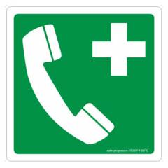 Safety Sign Store Emergency Phone-Graphic Sign Board, FE567-105NGR-01
