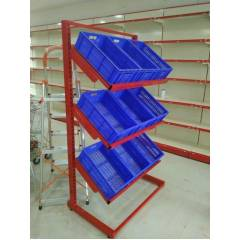 3 Layer Angle Frame Rack Vegetable Rack, Load Capacity: 50-100 kg/Layer