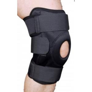 Hiakan HI N1008 Premium Open Patella Black Knee Support Belt, Size: XL