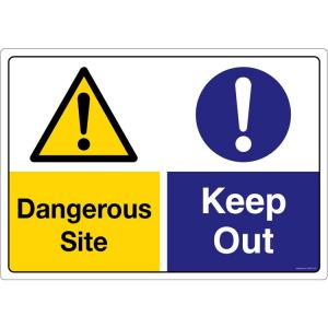 Safety Sign Store Caution: Dangerous Site, Keep Out Sign Board, CW207-A2AL-01