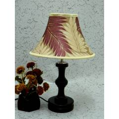 Tucasa Fabulous Wooden Table Lamp with Poly Silk Shade 3, LG-1041