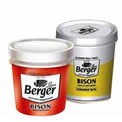 Berger Interior Wall Coatings Bison Acrylic Distemper Paint-Group 1- 5Kg-Cool Blue