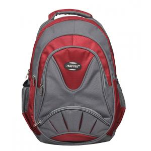 SPYKI PJ55 Red & Grey Smart and Specious Polyester Laptop Backpack