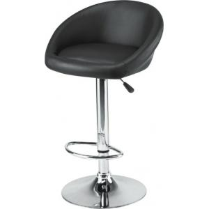 Atharvo 139 Black Round Bar Adjustable Office Stool