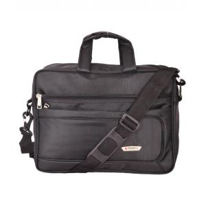 Sapphire Black Polyester Office Document Bag, SP3061