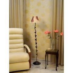Tucasa Leaf Floor Lamp with Poly Silk Shade, LG-582, Weight: 1100 g