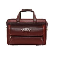 Abloom 1506 Brown Synthetic Leather Laptop Bag