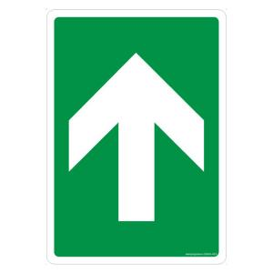 Safety Sign Store Arrow Up Sign Board, GS845-A4AL-01