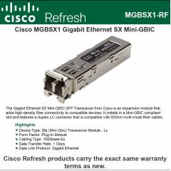 Cisco Gigabit SX Mini-GBIC SFP Transceiver, MGBSX1