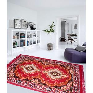 IWS Red 3 Layer Quilted Traditional Design Carpet, CRT121