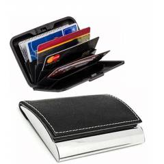 Stealodeal High Quality Black Metal Card Holder (Pack of 5)