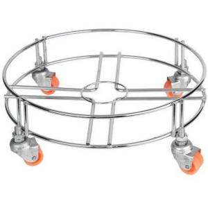 Taptree Stainless Steel Chrome Finish Cylinder Trolley, BFS-057