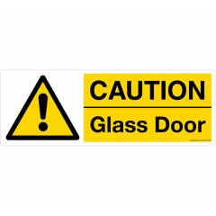 Safety Sign Store Caution: Glass Door Sign Board, CW604-1029PC-01