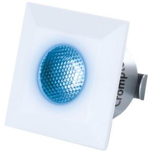 Crompton Star Domestic 2W Square Blue LED Spot Light, LSSS2-BLU (Pack of 2)
