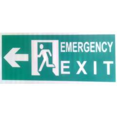 ITE 1x1 ft Retro Reflective Emergency Exit Sign Board