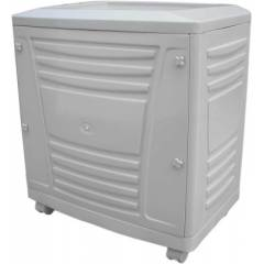 Luminous White Tall Tubular Trolley for Inverter and Battery, Weight: 4 kg